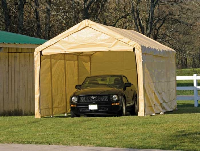 Temporary Shelters For Cars : Some portable garage features you should consider give